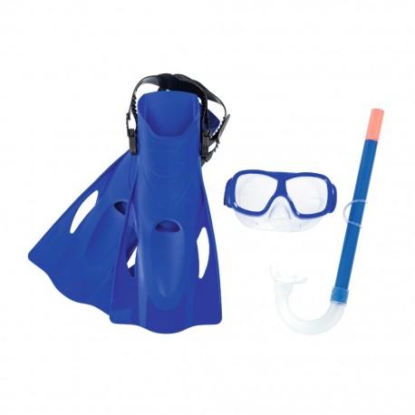 Set de Visor con Snorkel y Aletas Freestyle en color Azul BestwayBestway