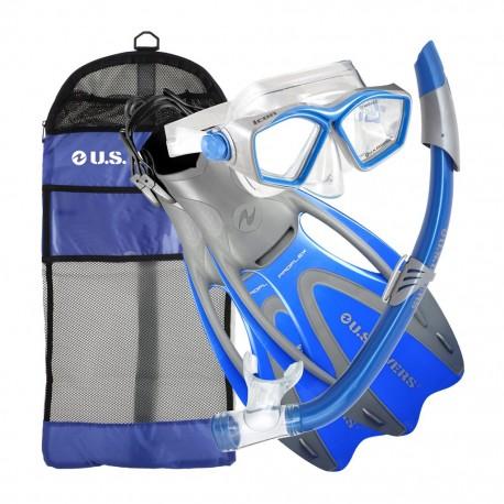 Combo Snorkel Icon de PVC con Aletas U.S DiversU.S. Divers