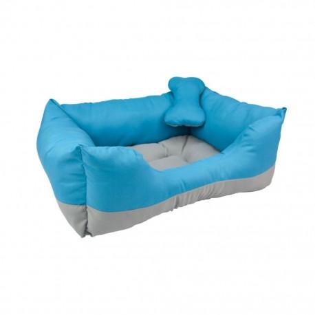 Cama Rectangular Bicolor Azul / GrisFANCY PETS