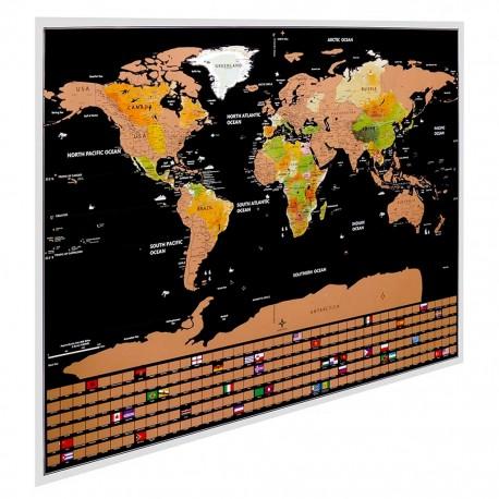 Redlemon Mapa Mundial Para Rascar Países Ciudades BanderasRedlemon