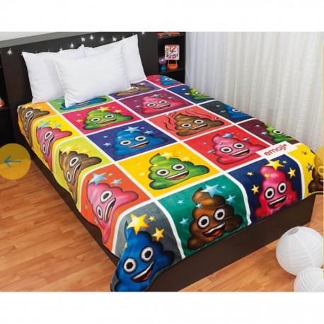 Cobertor Baby Mink Individual Emoji Poo ColorsBaby Mink