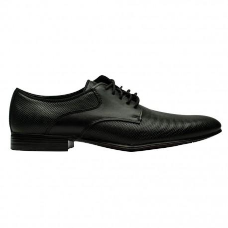 Zapato Casual De Piel Grabada Negro Atanado 1005Karosso