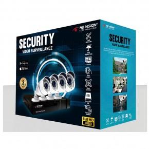 Kit CCTV 4 Cámaras 1TB HD VisionHD Vision