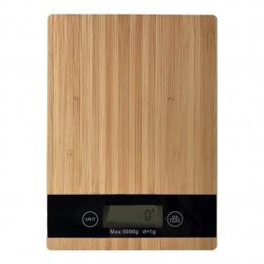 Bascula de Cocina Digital 5 Kg Bambu RectangularAquila