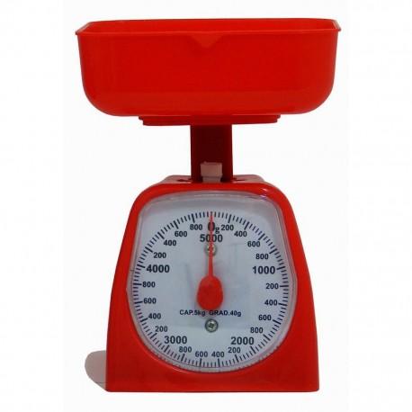 Bascula Cocina Kitchen Scales 5Kg RojoAquila