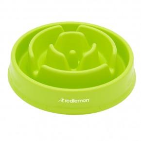 Redlemon Plato para Perro Slow Feed Alimentación Lenta 2 Tz VerdeRedlemon