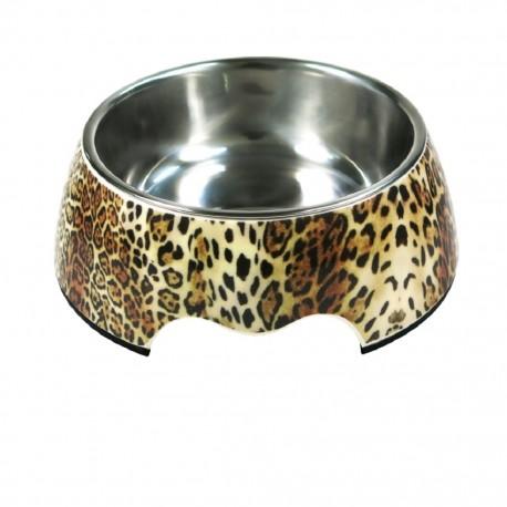 Plato Melamina/Inox Leopardo 350mlPET75